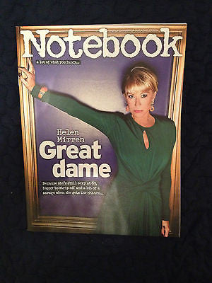 HELEN MIRREN SEXY PHOTO COVER NOTEBOOK MAGAZINE AUGUST 2014 YVETTE FIELDING