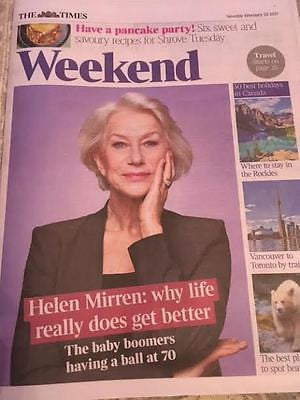 Times Weekend February 2017 Helen Mirren Photo Cover Interview