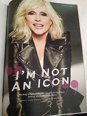 BRAND NEW STYLIST MAGAZINE MARCH 2014 - DEBORAH HARRY BLONDIE KIRSTY WARK