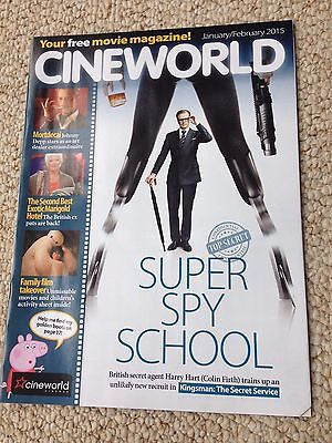 KINGSMAN Colin Firth PHOTO COVER CINEWORLD MAGAZINE JANUARY 2015 MILES TELLER