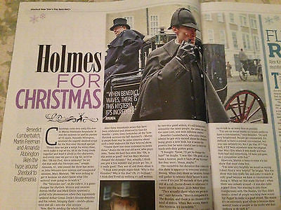 Sherlock BENEDICT CUMBERBATCH Peter Firth Laura Fraser TV Magazine Xmas 2015 NEW
