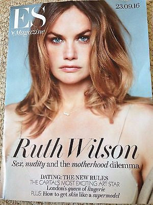 RUTH WILSON Photo Cover interview UK LONDON ES MAGAZINE SEPTEMBER 2016
