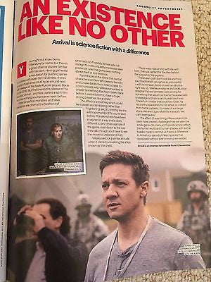 Arrival - Jeremy Renner & Amy Adams UK Shortlist Magazine November 2016