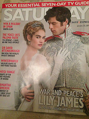SATURDAY Magazine January 2016 LILY JAMES James Norton HEIDI RANGE The Troggs