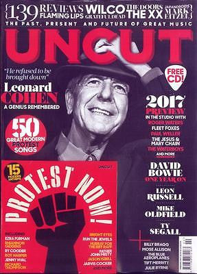 LEONARD COHEN Photo Cover Special UK Uncut MAGAZINE February 2017 NEW
