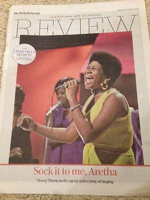 ARETHA FRANKLIN PHOTO COVER TELEGRAPH REVIEW 02/2016 TRACEY THORN MICHAEL GAMBON