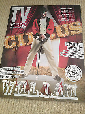WILL.I.AM interv/w JOANNA LUMLEY UK 1DAY ISSUE 2014 RICHARD MADDEN TOM HOLLANDER