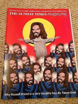 RUSSELL BRAND PHOTO INTERVIEW TIMES MAGAZINE MAY 2015 JUDI DENCH JULIE CHRISTIE