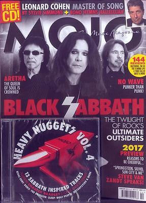 MOJO magazine - February 2017 Black Sabbath Leonard Cohen & 13 Track CD