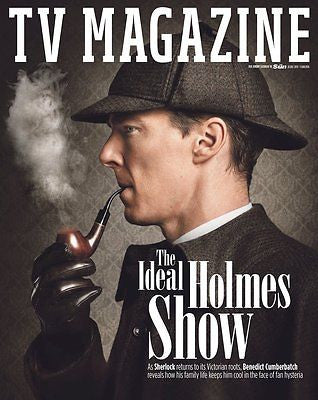 (UK) SUN TV MAGAZINE DECEMBER 2015 BENEDICT CUMBERBATCH SHERLOCK COVER COVER