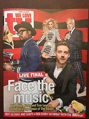NEW We Love TV Magazine Will.i.am Tom Jones Ricky Wilson THE VOICE John Simm
