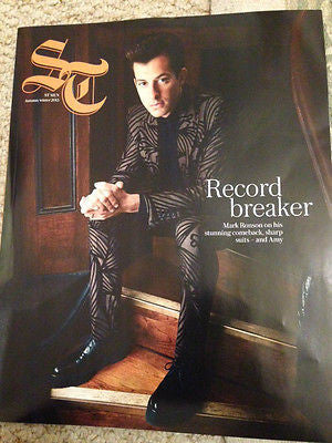 ST MAGAZINE AUTUMN/WINTER 2015 MARK RONSON PHOTO COVER INTERVIEW