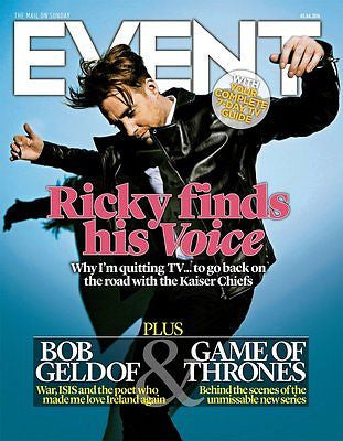 UK EVENT MAGAZINE APRIL 2016 RICKY WILSON BOB GELDOF LENA HEADEY TOM BURKE