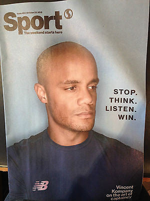 Manchester City VINCENT KOMPANY PHOTO COVER INTERVIEW FEB 2015 KEVIN PIETERSEN