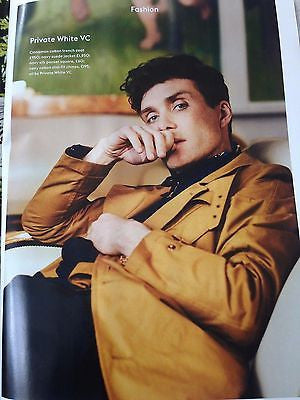 NEW UK !! CILLIAN MURPHY inter/w PEAKY BLINDER HUNK UK ESQUIRE ISSUE ***