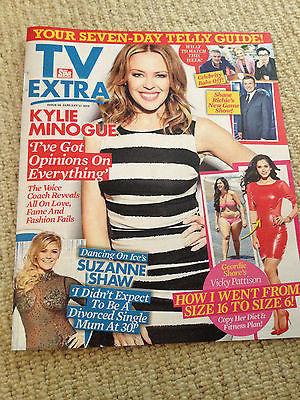 NEW TV Extra Magazine Kylie Minogue Suzanne Shaw Lisa Snowdon Vicky Pattison