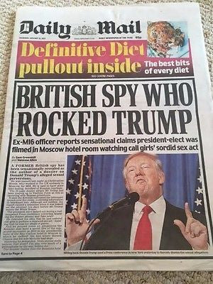 Daily Mail Newspaper 12 January 2017 President Donald Trump - Moscow Special