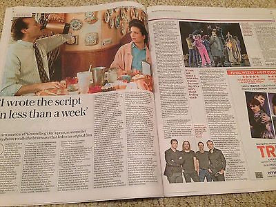 (UK) TELEGRAPH REVIEW AUG 2016 TIM MINCHIN ELLEN BURSTYN MARGOT ROBBIE MORPURGO
