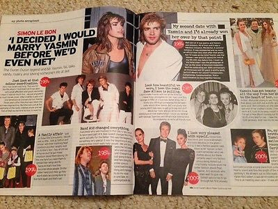 (UK) NOTEBOOK MAGAZINE SEPT 2015 DURAN DURAN SIMON LE BON YASMIN PHOTO INTERVIEW