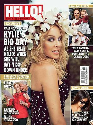 UK Hello! magazine - October 2016 KYLIE MINOGUE PHOTO COVER INTERVIEW