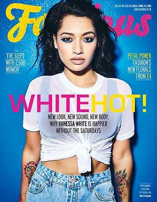 FABULOUS Magazine April 2016 The Saturdays VANESSA WHITE Photo Cover Lee Mead
