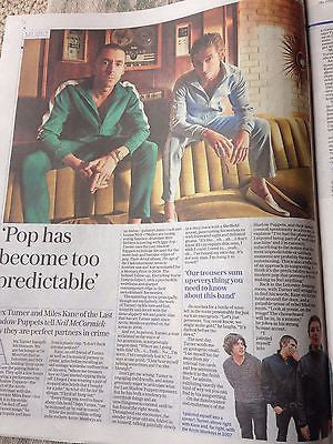 Alex Turner LAST SHADOW PUPPETS Miles Kane UK Telegraph Review 25 June 2016