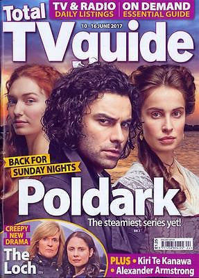 Poldark AIDAN TURNER Photo Cover Interview Total TV Guide UK magazine June 2017