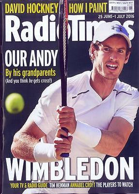 ANDY MURRAY - WIMBLEDON 2016 - DAVID HOCKNEY - Radio Times UK magazine June 2016