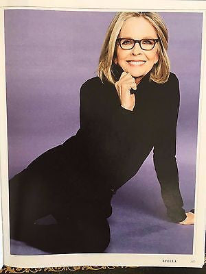 UK Stella Magazine June 2017 Diane Keaton Photo Cover Interview