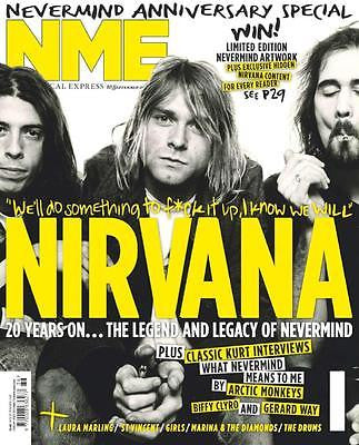 NME MAGAZINE SEPTEMBER 2011 NIRVANA - KURT COBAIN - 20 YEARS ON MARINA DIAMONDS