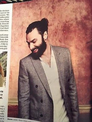 (UK) TELEGRAPH MAGAZINE MAY 20 2017 AIDAN TURNER POLDARK HUNK PHOTO INTERVIEW