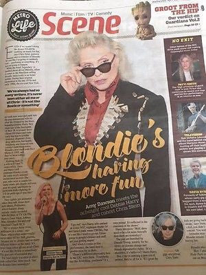DEBORAH Debbie HARRY BLONDIE PHOTO INTERVIEW April 2017