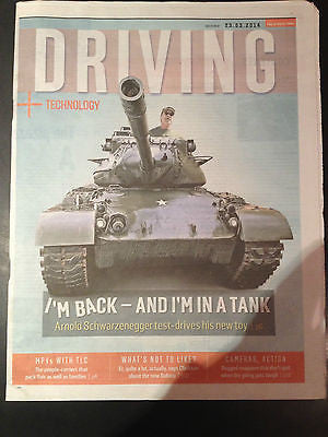 ARNOLD SCHWARZENEGGER PHOTO COVER INTERVIEW 2014 DRIVING SUPPLEMENT