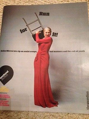 (UK) GUARDIAN WEEKEND MAGAZINE SEPTEMBER 2015 HELEN MIRREN PHOTO COVER INTERVIEW