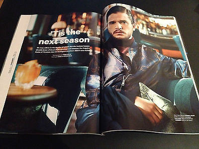 KIT HARINGTON PHOTO interview JON SNOW GAME OF THRONES hunk UK Magazine 2014