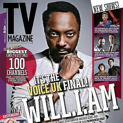 TV MAGAZINE 2015 THE VOICE WILL.I.AM PHOTO INTERVIEW JOHN SIMM HONOR BLACKMAN