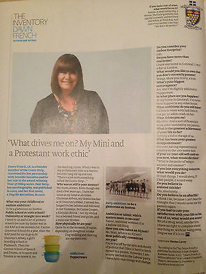 FT WEEKEND MAGAZINE OCT 2015 DAWN FRENCH PHOTO INTERVIEW.