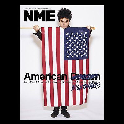 GREEN DAY - Photo Cover Interview NME UK magazine November 2016