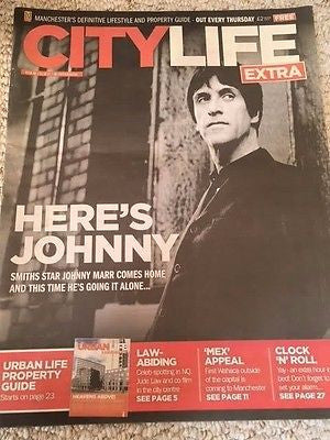 UK City Life Extra Supplement October 2014 Johnny Marr The Smiths Photo Cover