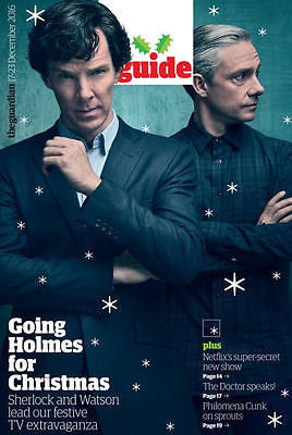 BENEDICT CUMBERBATCH Photo Cover UK Guardian Guide Magazine 12/2016 Martin Freeman
