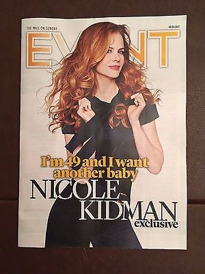 NICOLE KIDMAN Photo interview UK EVENT MAGAZINE 01/2017 Rufus Sewell The XX