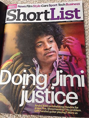 UK Jimi Hendrix Shortlist Magazine Andre 300 Interview ANEURIN BARNARD KYLIE
