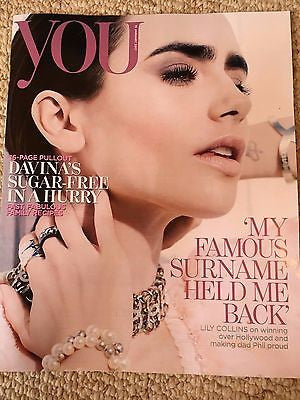 UK You Magazine January 2017 Lily Collins Tom Daley