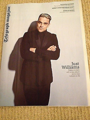 ROBBIE WILLIAMS PHOTO INTERVIEW - DOCTOR WHO JOHN HURT DAVID TENNANT UK MAGAZINE