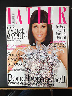 Gemma Arterton - Tatler Magazine – October 2008 James Bond Blunt Kate Middleton