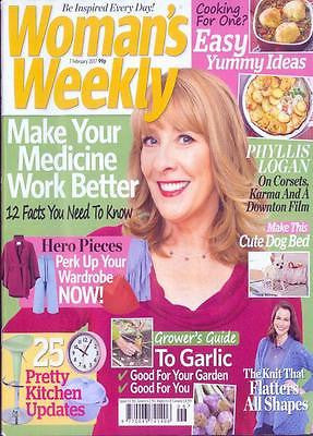 Downton Abbey PHYLLIS LOGAN PHOTO INTERVIEW UK MAGAZINE February 2017