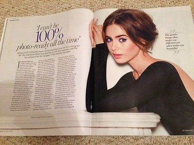 Phil LILY COLLINS PHOTO INTERVIEW UK YOU MAGAZINE AUGUST 2015