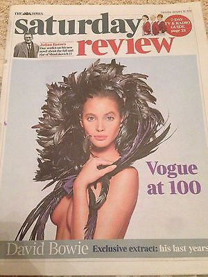 VOGUE Magazine at 100 CHRISTY TURLINGTON PHOTO COVER TIMES JAN 2016 ALAN RICKMAN