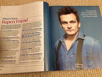RUPERT FRIEND interview NATALIE MASSENET UK 1 DAY ISSUE BRAND NEW 2014