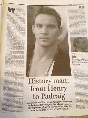 JONATHAN RHYS MEYERS PHOTO INTERVIEW REVIEW SUPPLEMENT SEPTEMBER 2015